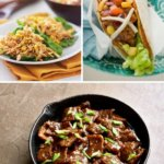 CILANTRO LIME CHICKEN SKILLET TACOS AND MONGOLIAMN BEEF