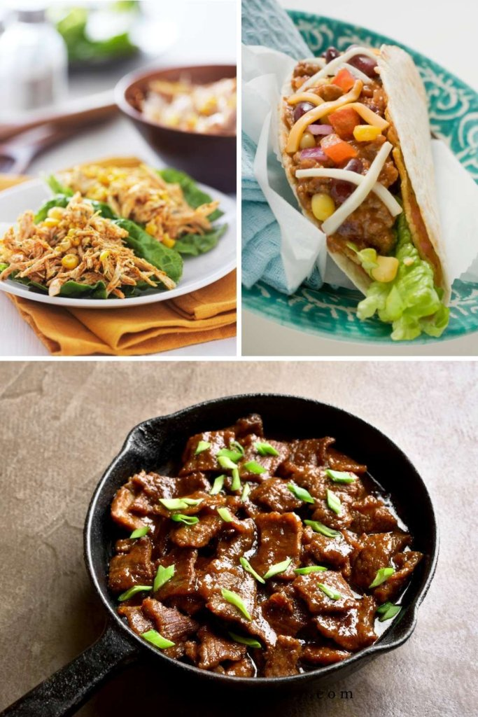 CILANTRO LIME CHICKEN SKILLET TACOS AND MONGOLIAN BEEF