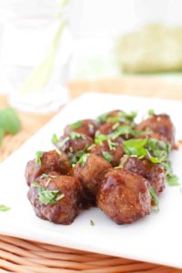 GLAZED MEATBALLS