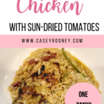Need an easy recipe that will be on the table in less than 30 minutes? Look no further! This easy chicken recipe has 5 ingredients and is a quick and simple dinner idea! #chickendinner #recipeswithchicken #easymeals