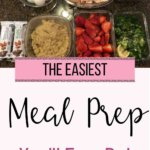 Think you're not fancy or organized enough to meal prep? Think again! This easy meal prep can be done in less than half an hour! If you are trying clean eating, you MUST meal prep to ensure you have healthy lunches, dinners and healthy snacks on hand all week! Meal prepping is a huge step in reaching your weight loss goals. Click through to see this easy 30 minute meal prep! #mealplanning ##easymealprep #weightlossmeals #recipesforweightloss