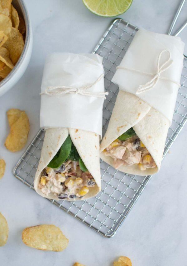 Quick & Easy Tex Mex Chicken Wraps