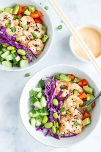 Easy Shrimp Poke Bowl