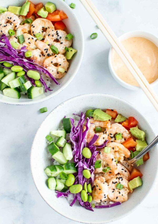 Easy Shrimp Poke Bowl