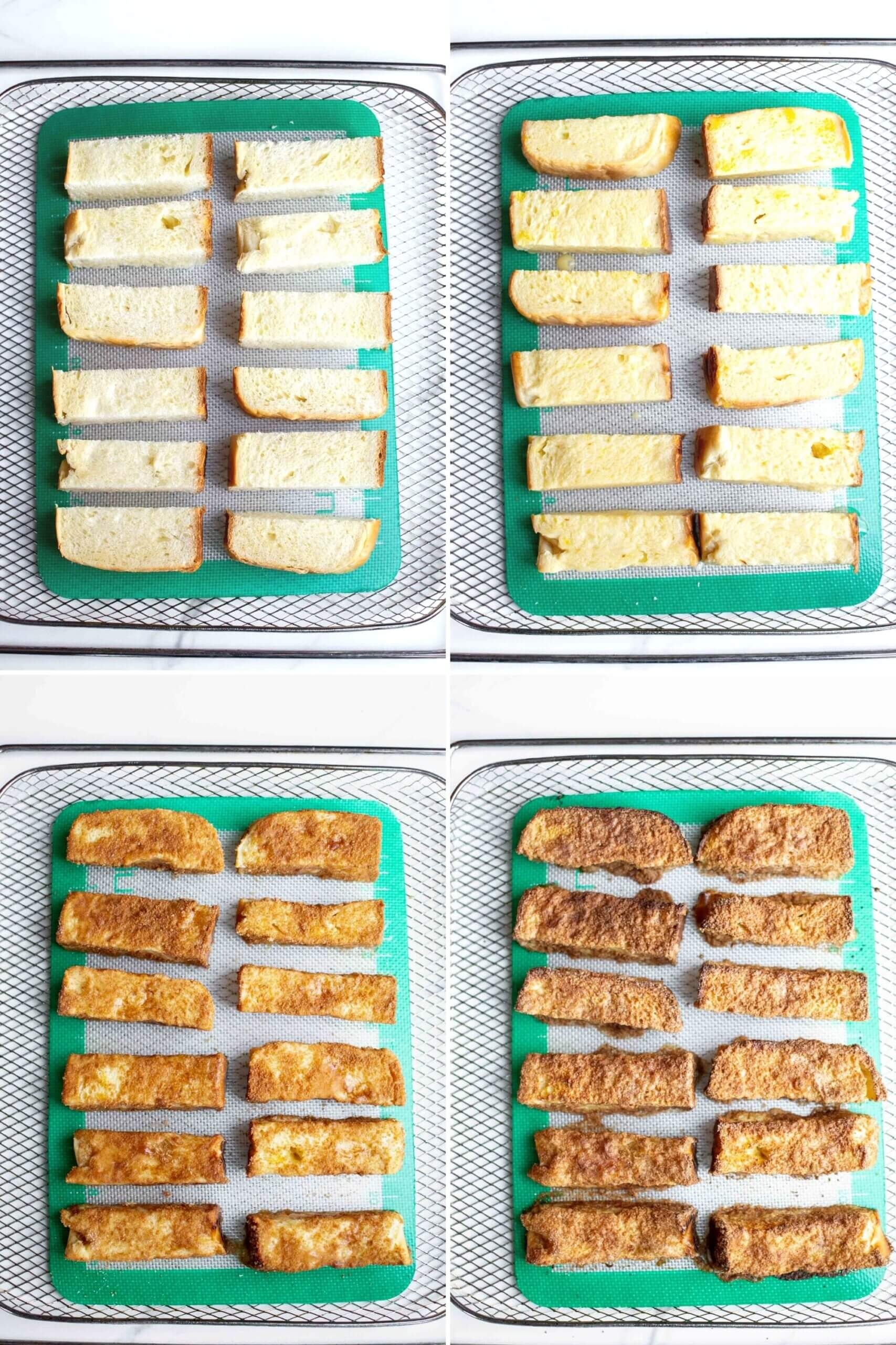 Step by step how to making Air Fryer French Toast Sticks