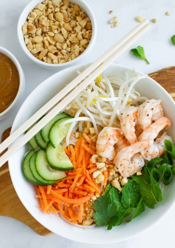 Vietnamese Summer Roll Noodle Bowl
