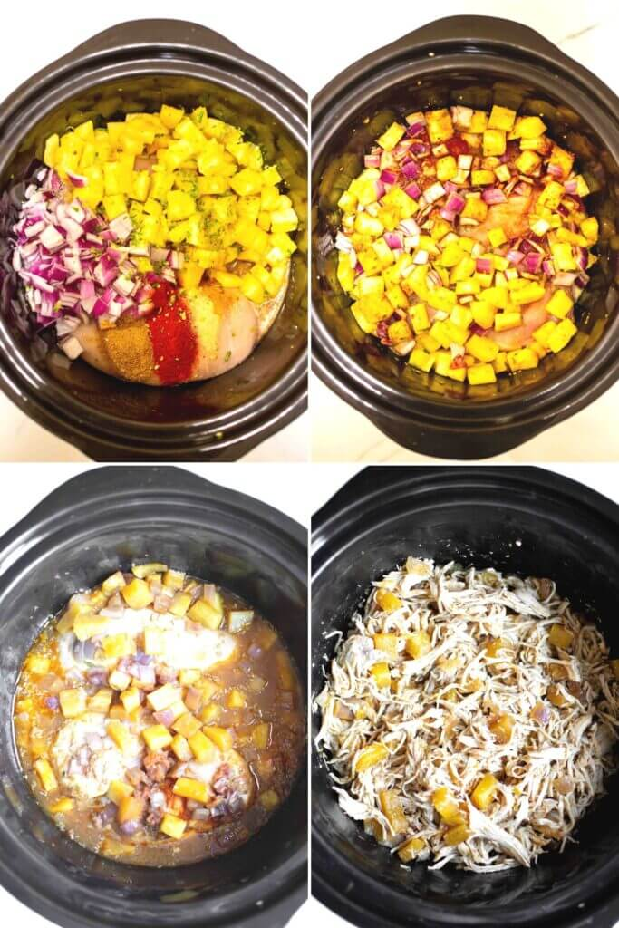 How to make Crockpot Hawaiian Chicken Tacos step by step