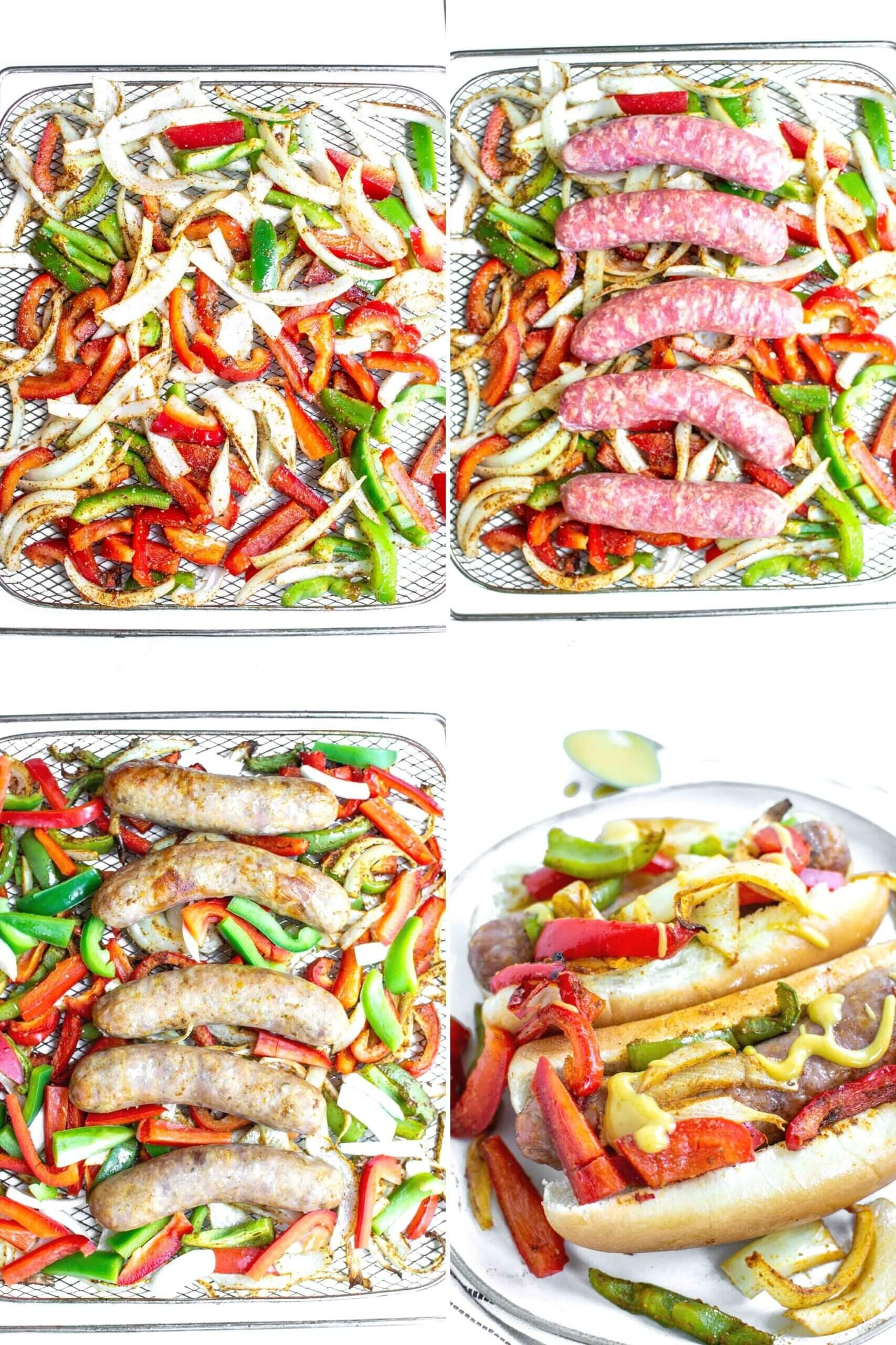 How to make Air Fryer Sausage and Peppers step by step