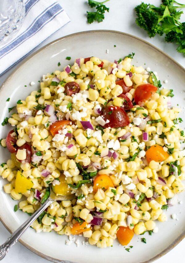 Simple Sweet Corn Salad
