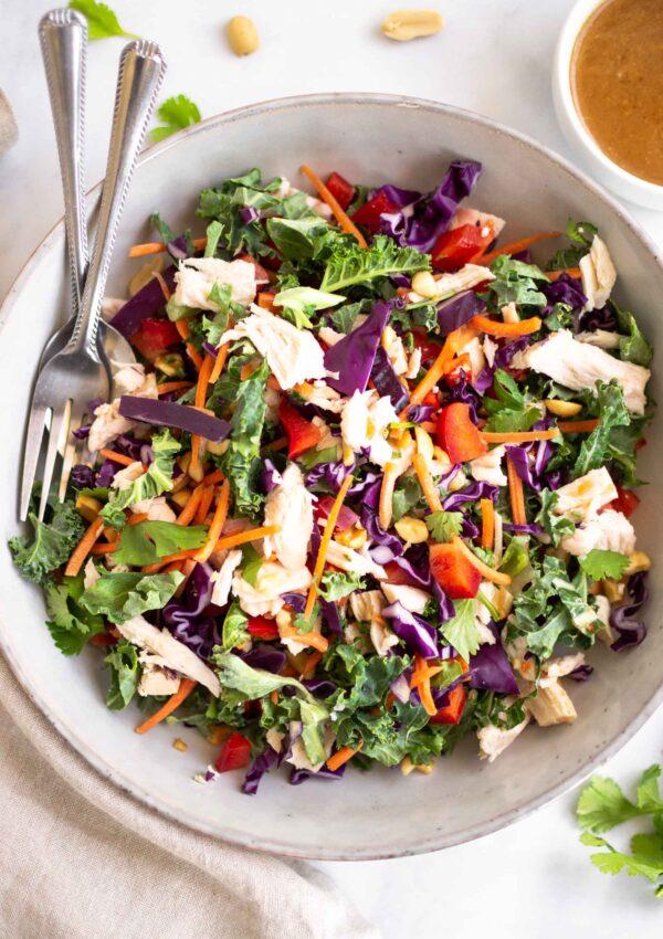 Chopped Thai Salad with Spicy Peanut Vinaigrette