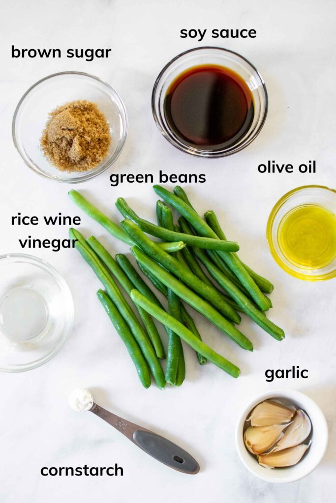 Ingredients needed to make Chinese Style Air Fryer Green Beans