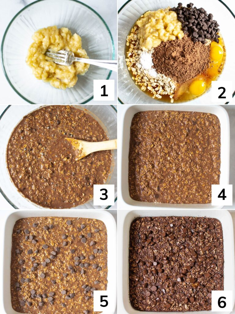 How to. make Chocolate Baked Oats step by step instructions