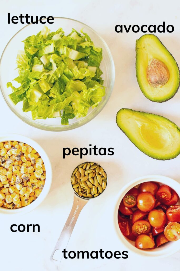 Ingredients to make a Simple Southwest Salad