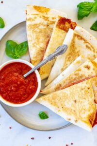 Easy Pizza Tortilla Wrap