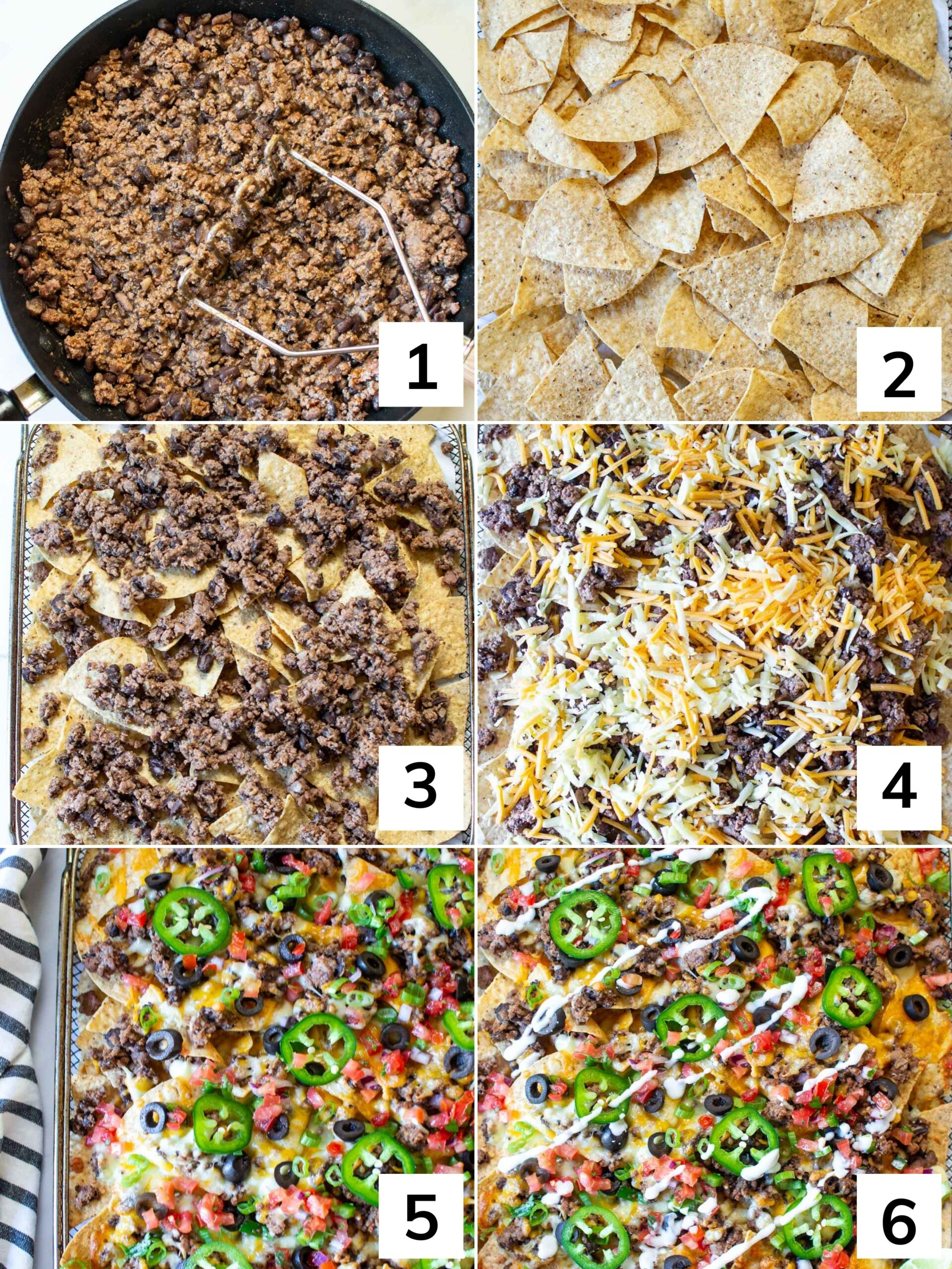 How to make nachos in the air fryer step by step