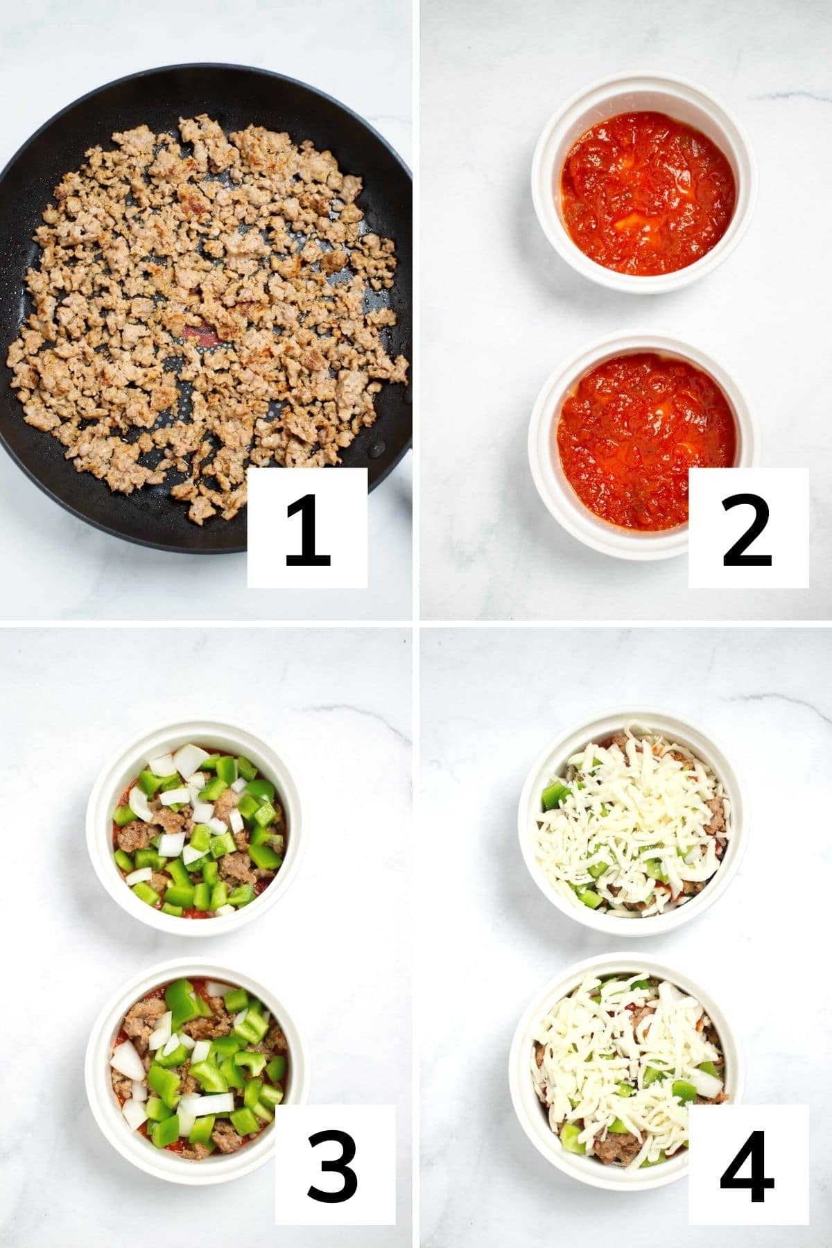 How to make a pizza bowl step by step instructions.