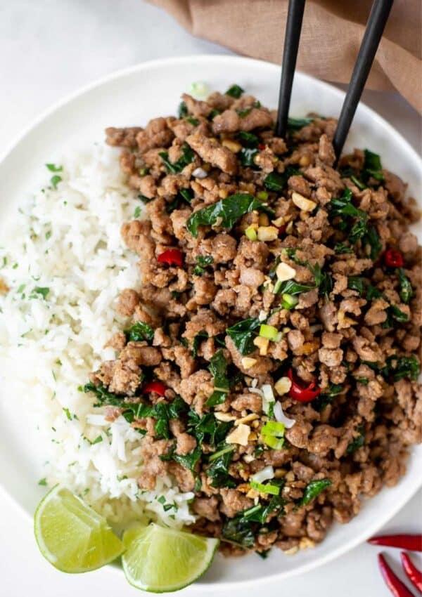 Easy Thai Basil Pork