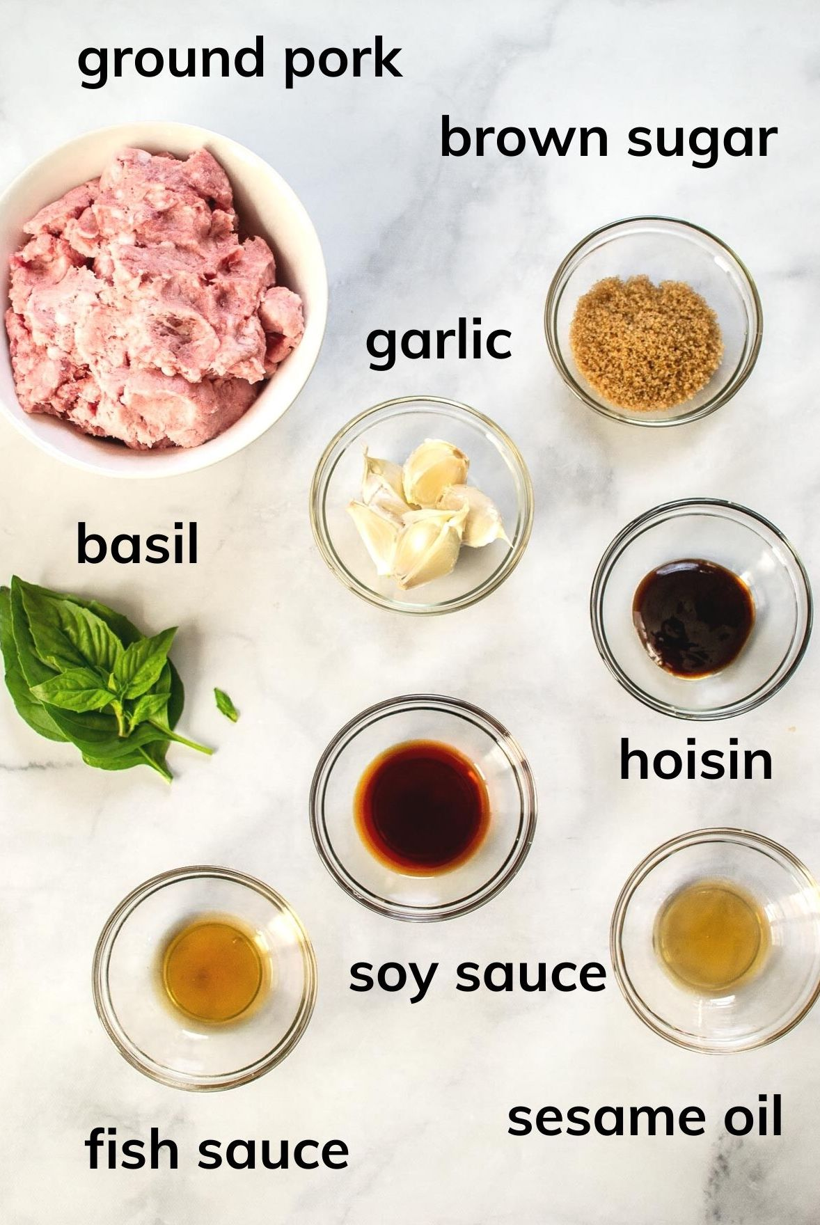 Ingredients needed to make this dish.