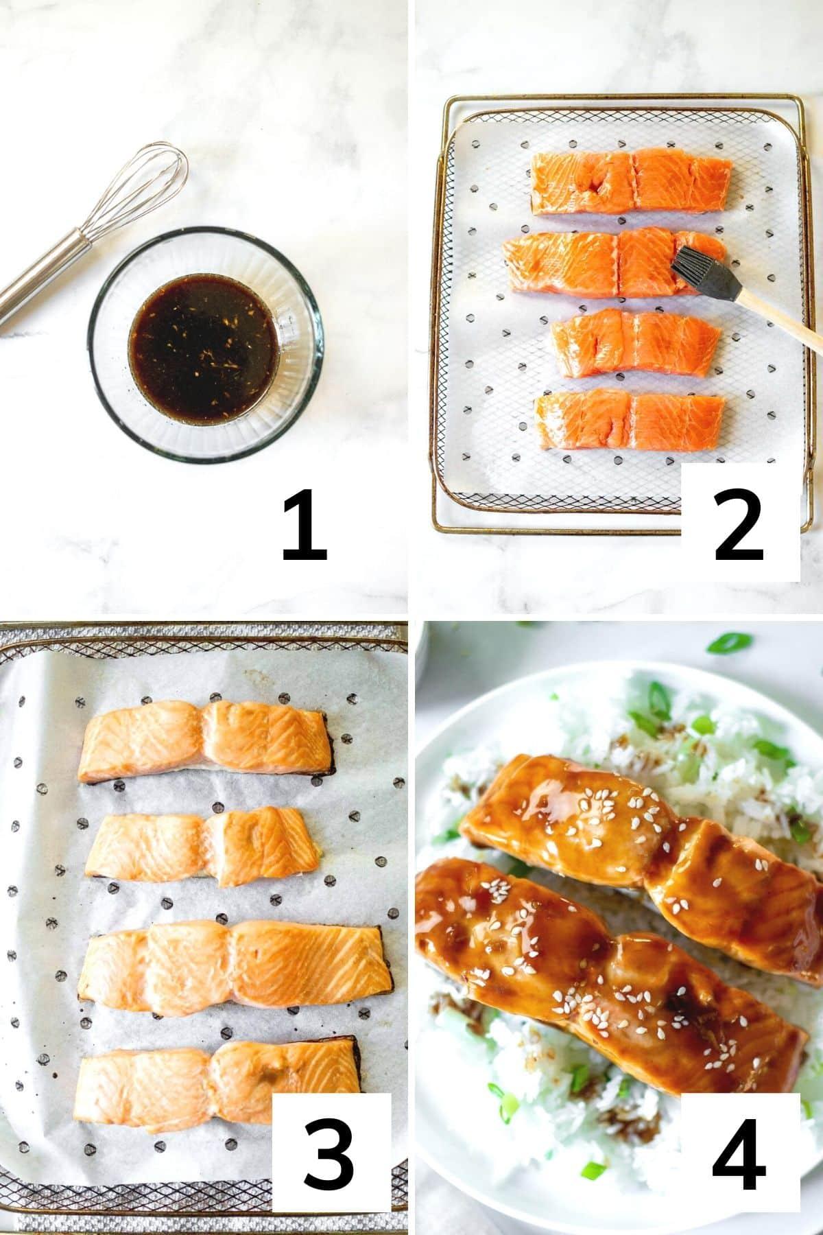 How to make Air Fryer Teriyaki Salmon step by step
