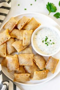 Perfect Air Fryer Pizza Rolls with Easy Homemade Ranch