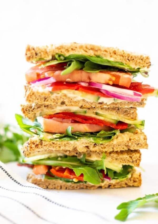 Easy Panera Mediterranean Veggie Sandwich