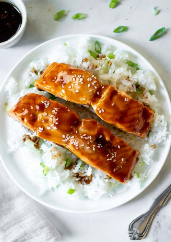 Easy Air Fryer Teriyaki Salmon