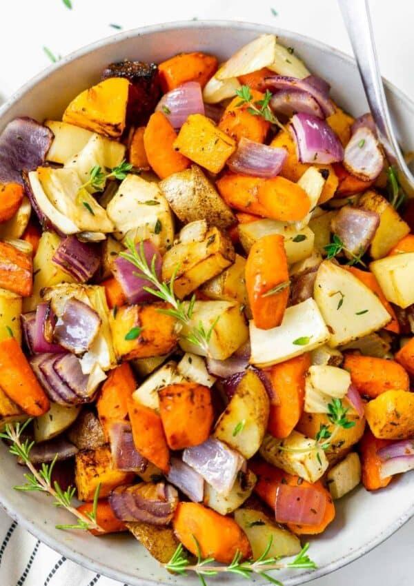 Air Fryer Roasted Root Vegetables