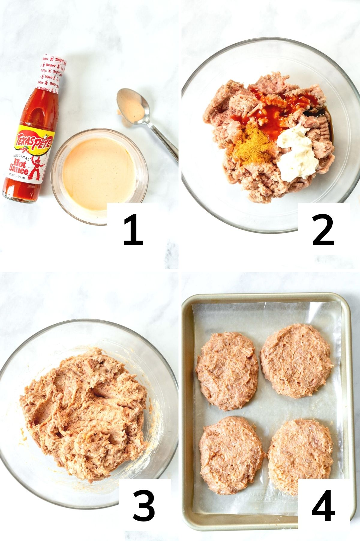 How to make spicy turkey burgers step by step