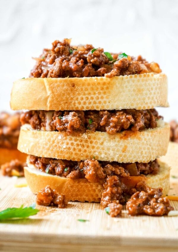 Old Fashioned Sloppy Joes on Texas Toast (without ketchup)