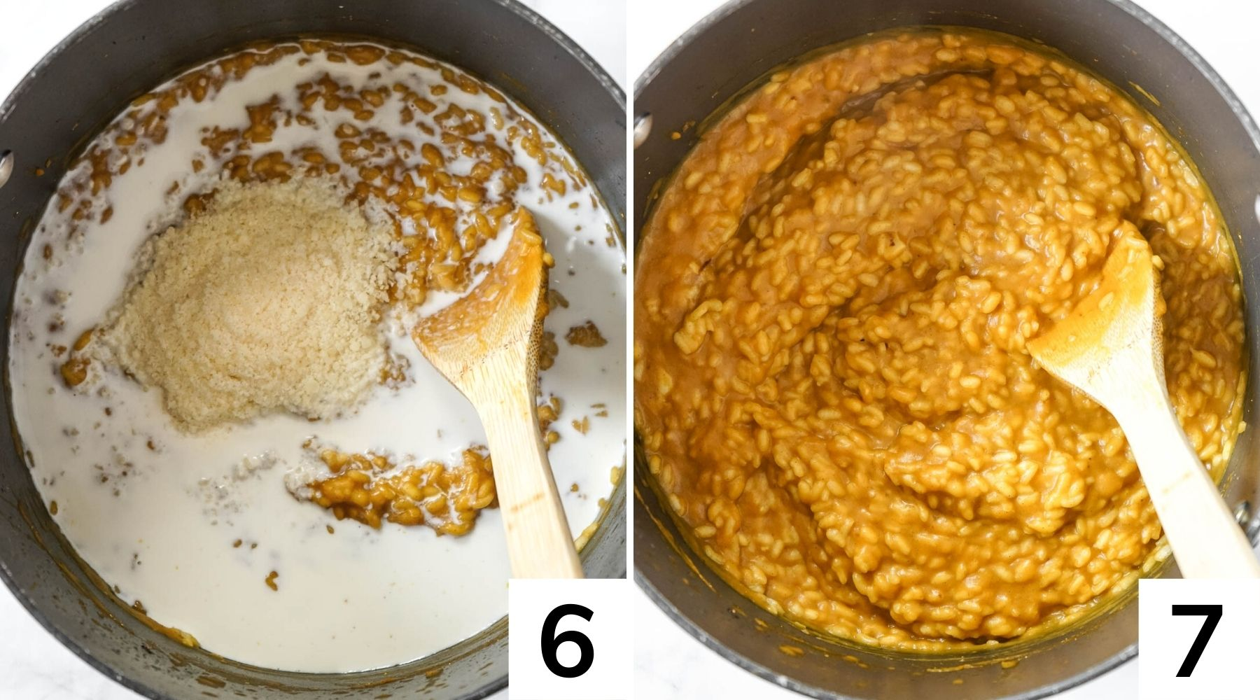 How to make pumpkin risotto step by step