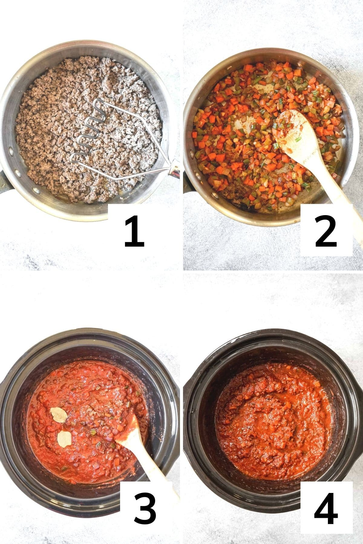 How to make bison pasta sauce step by step.